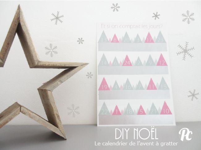 DIY : Calendrier de l'Avent à gratter  ☆ printable ☆
