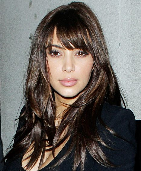 "Kim Kardashian's New Bangs Are Fake: They're ""Just Clip Ons!"""