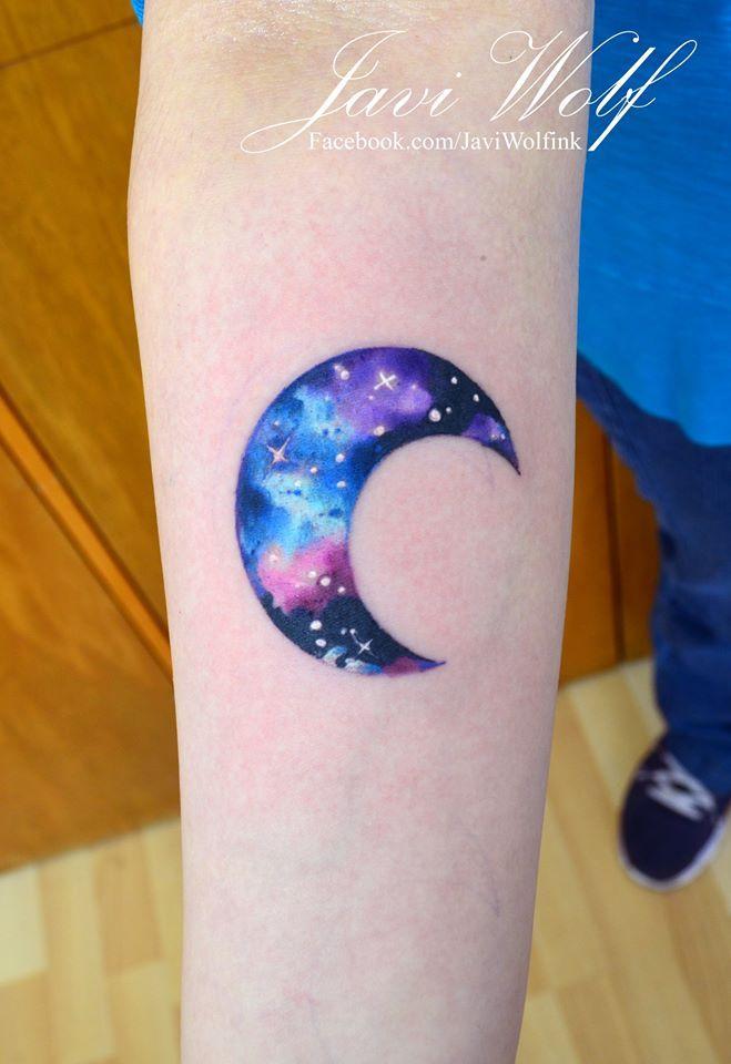 Divino Luna en Acuarelas by Javi Wolf