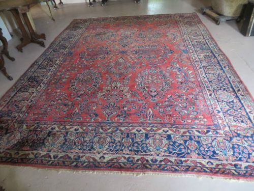 Antique Oriental Rug Carpet Sarouk 9 X 12 Great Condition And Color
