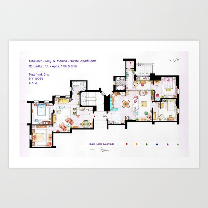 FRIENDS Apartments Floorplan Art Print