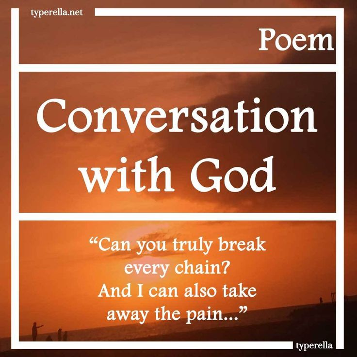 Conversation with God. Can you truly make me a new creation? I gave you a gift, I gave you salvation.
