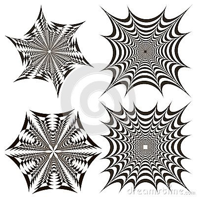 Fractals are geometric black and white circles and squares