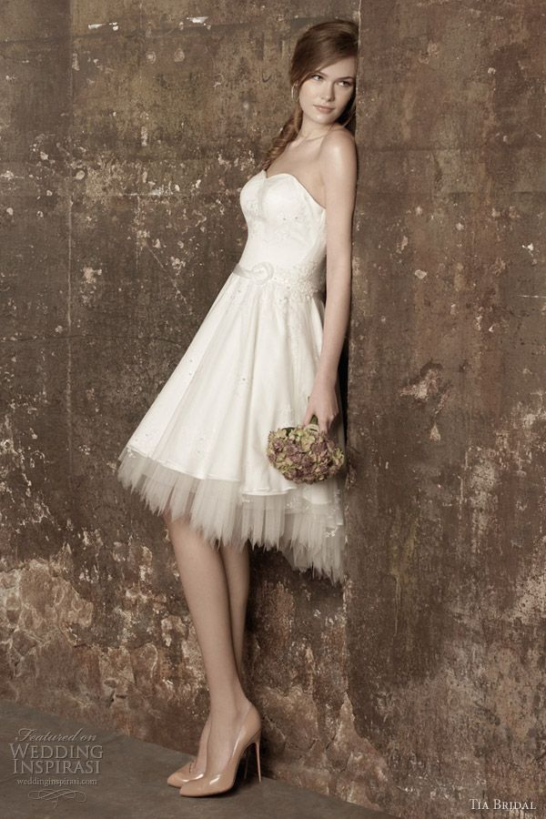 tia bridal short wedding dresses 2013 romance 5359