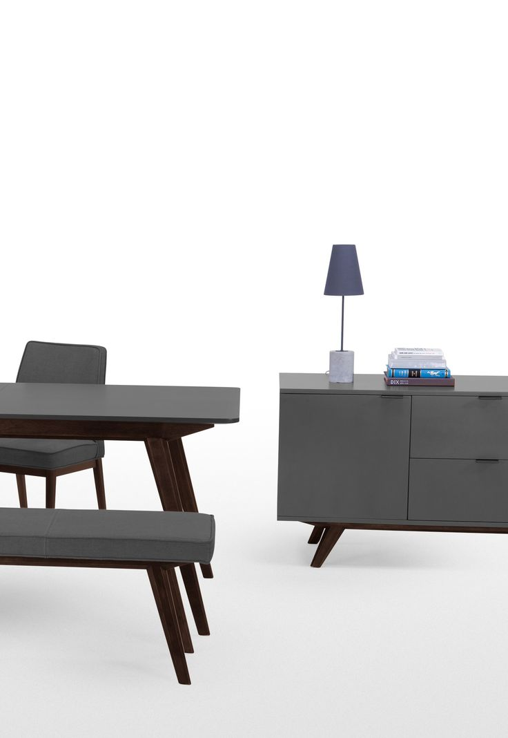 Aveiro Sideboard, in Oak and Grey. A contemporary and stylish place to keep your crockery. £699. MADE.COM