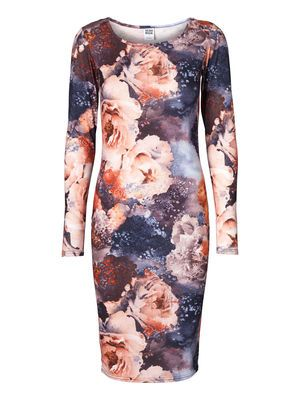 EVA BODYCON LS KNEE DRESS  #floral #dress #VEROMODA  @Veronica MODA