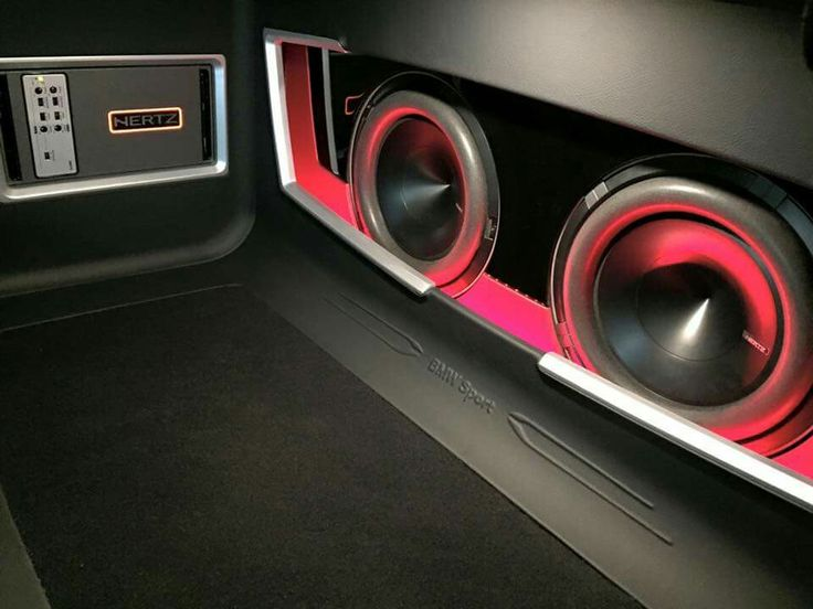 Hertz audio installation in a BMW