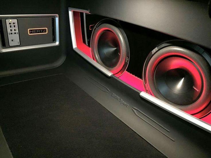 Hertz audio installation in a BMW