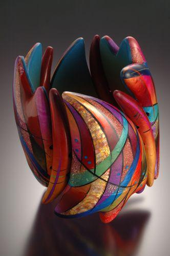 Kathleen Dustin bracelet, polymer clay