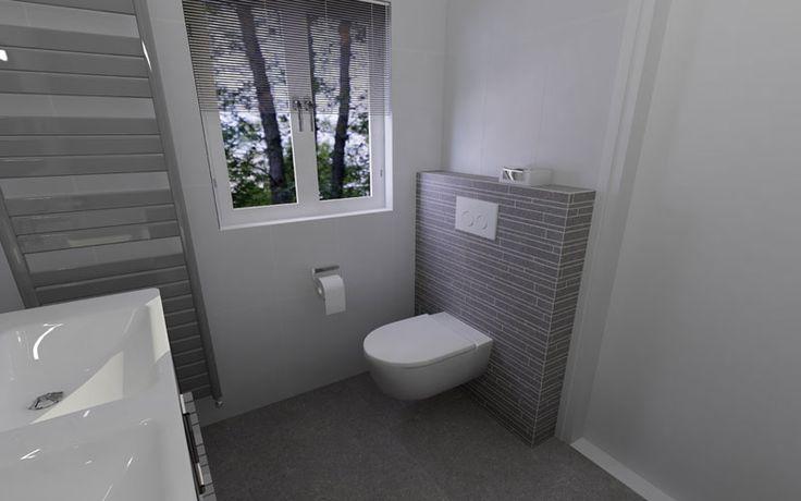 Meer dan 1000 idee n over badkamer accenten op pinterest gestencilde accent muren badkamer en - Deco toilet grijs en wit ...