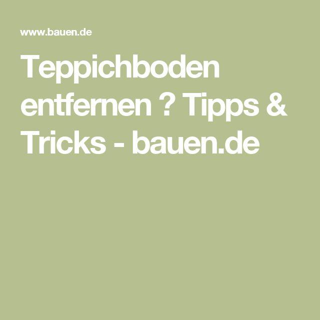 Teppichboden entfernen ▷ Tipps & Tricks - bauen.de