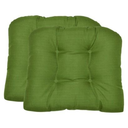 cushion set chair cushion thresholdtm 2 outdoor wicker chairs green