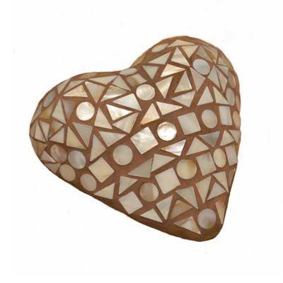 Coeur en mosaïque de nacre