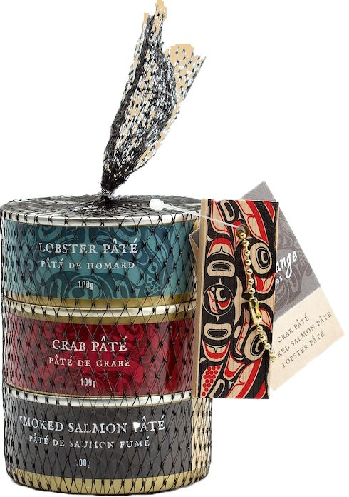 Three Seafood Pâtés in a Net - SeaChange Seafoods - Unique Canadian Gifts