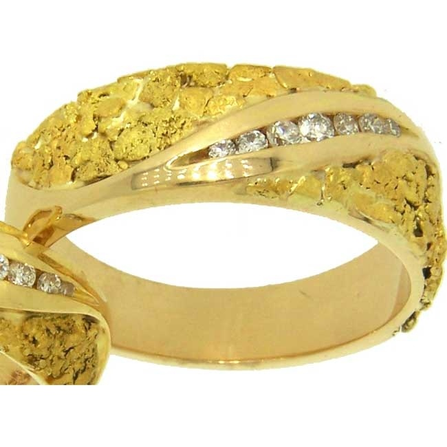 37 best Gold Nugget Wedding Rings Men and Women images on