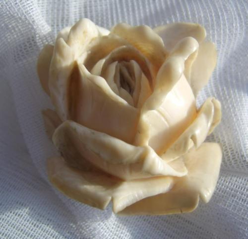 Невероятно тонкая большой викторианский ручной резной скульптурные цветок розы дьепп брошь   eBay