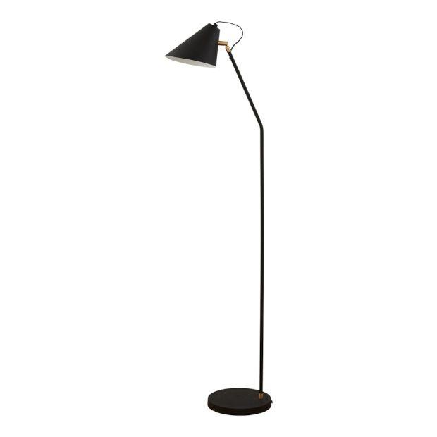 House Doctor Vloerlamp 130 cm - Zwart/Wit - afbeelding 1