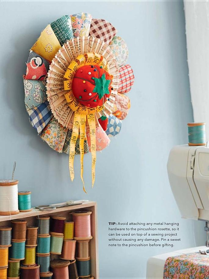 Beautiful pincushion rosette  Rosette Art: Instructions for Beautiful Rosettes to Share, Wear, and Display - Cathe Holden - Google Books