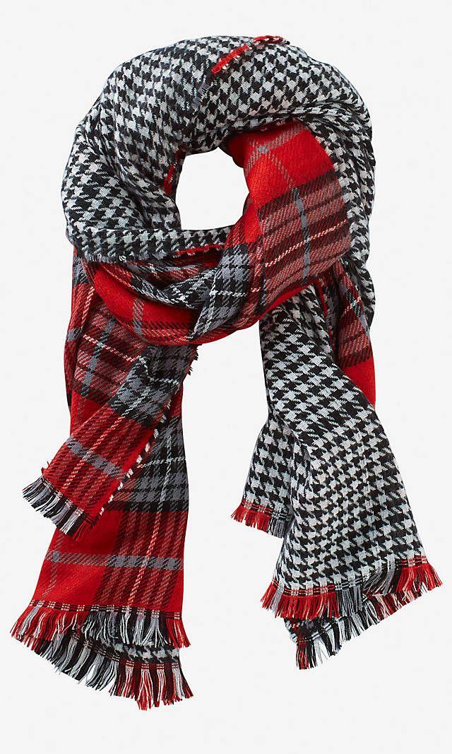 Houndstooth Plaid Blanket Scarf Express Shop Online