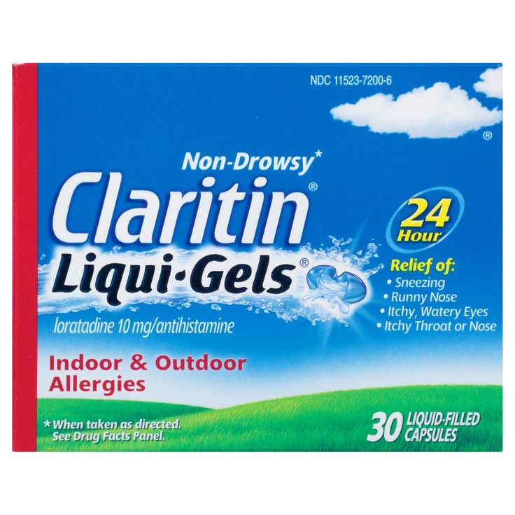 Claritin 24 Hour Non-Drowsy Allergy Relief Liqui Gels - 30 Count