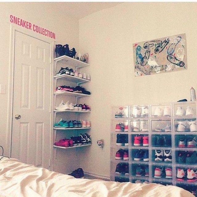 Women 39 s drop front shoe box ankleidezimmer tipps und schuhe for Schuhschrank jordan design
