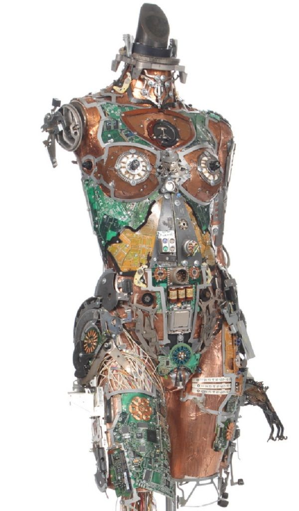 Great collection of computer circuit board art.