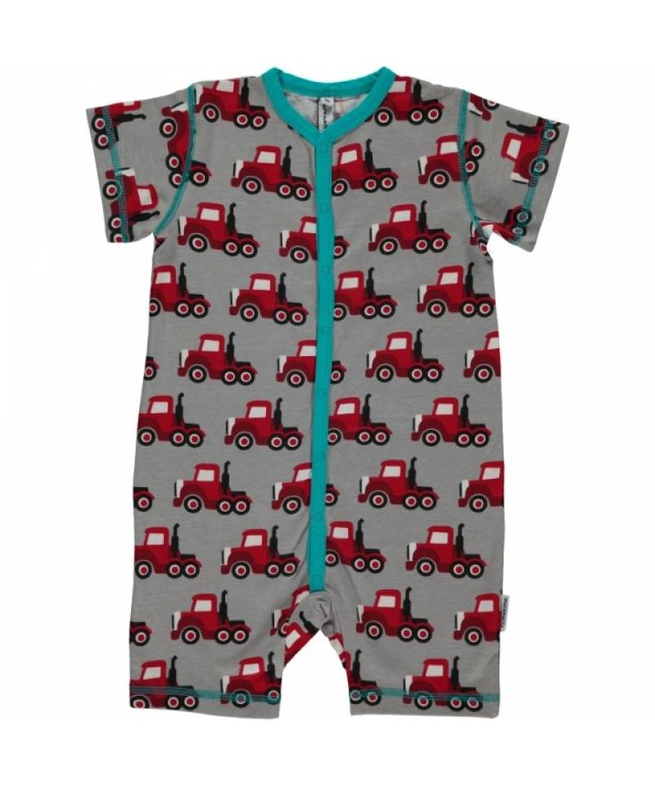 Truck Rompersuit from Maxomorra. Available at Modern Rascals.