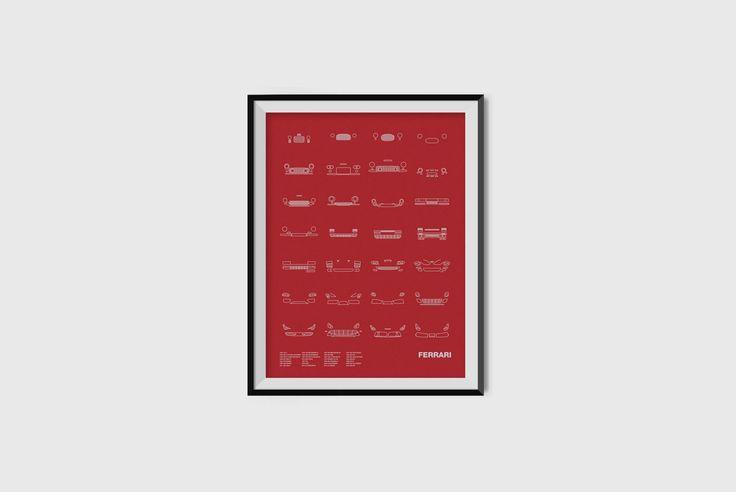 NOMO Design Auto Icon Screenprint: Ferrari - 12 Perfect Gifts for Drivers — GEAR DETAIL