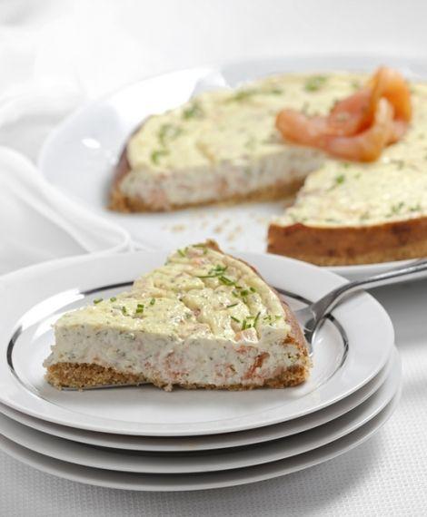 Cheesecake de salmón ahumado. Recetas Express de LIDER