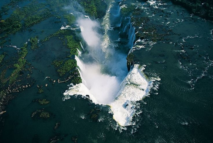 Iguazu waterfalls, Misiones province, Argentina and Brazil \ photographer- Yann Athus-Bertrand. Aerial filming.
