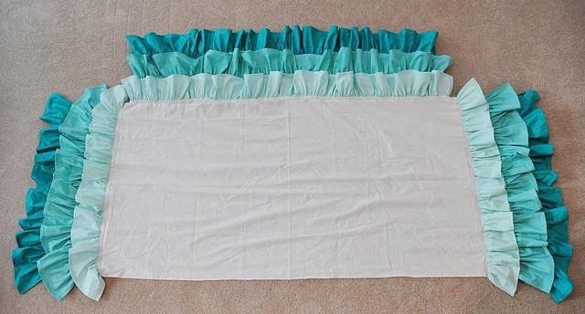 Ruffled Waterfall Cribskirt by emmmylizzzy, via Flickr: Ruffled Crib Skirts, Big Girl, Super Easy, Baby Girl, Bed Skirts, Crib Skirt Tutorial