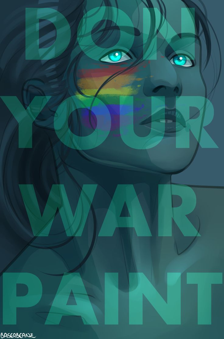 """A splash of rainbow war paint signals strength and celebrates acceptance during this #Pride month!  Share your art by June 10th and join us in creating a Pride flag shaped by our community: http://danlev.deviantart.com/journal/Celebrate-Pride-Your-Art-Our-Pride-Flag-682905635?utm_source=social&utm_campaign=060117_MKT_PrideArtBaserBeanz&utm_medium=pinterest  """"Happy Pride Month"""" by BaserBeanz…"""