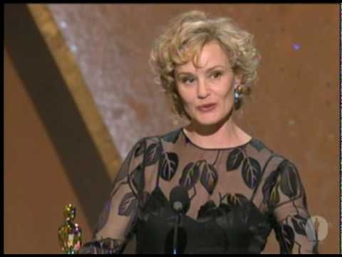 "Jessica Lange winning Best Actress for ""Blue Sky"""