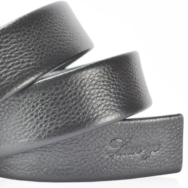 125CM Men Business Cowhide Leather Belt Casual Automatic Buckle Leather Luxury Belt Straps