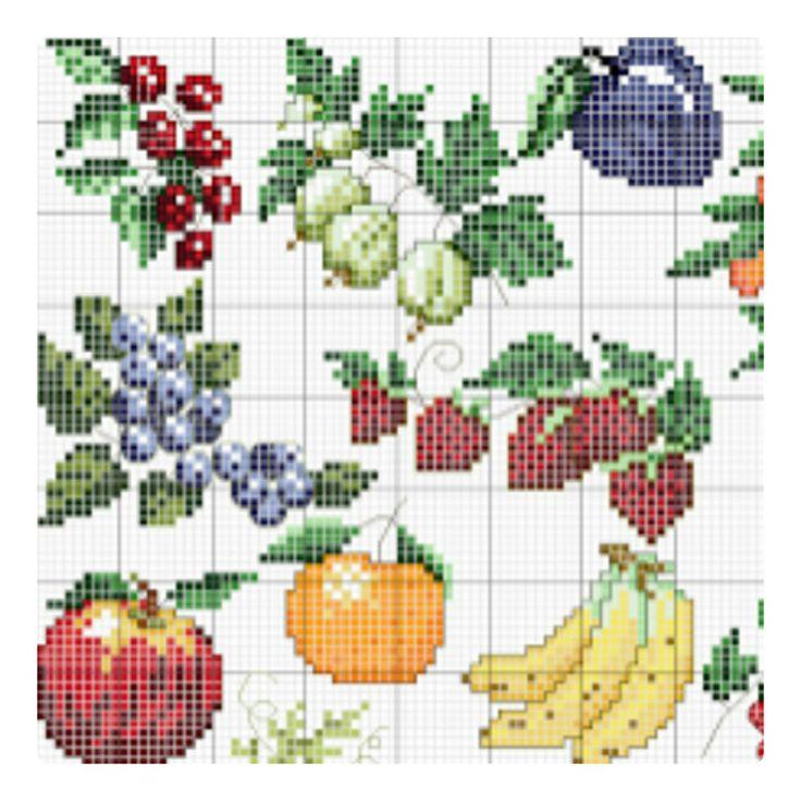 CROSS-STITCH - GARDEN / JARDIN / TUIN - VEGETABLE / LEGUME / GROENTEN - FRUITS