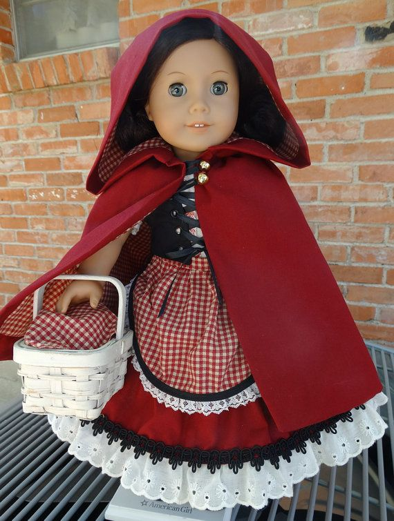 Little Red Riding Hood Fairy Tale Costume by Designed4Dolls on Etsy $34.95