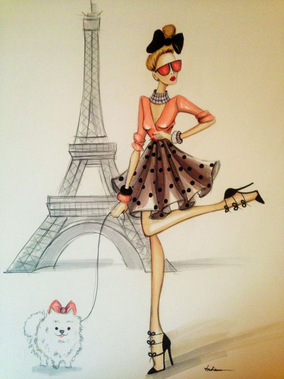ORIGINAL Fashion Illustration-Paris by Tatiana| Be inspirational❥|Mz. Manerz: Being well dressed is a beautiful form of confidence, happiness & politeness