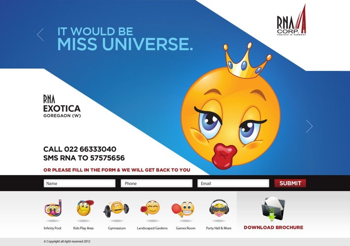 Landing Page for RNA Corporation by Md Amir, via Behance