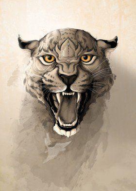 leopard animal illustration nature wild