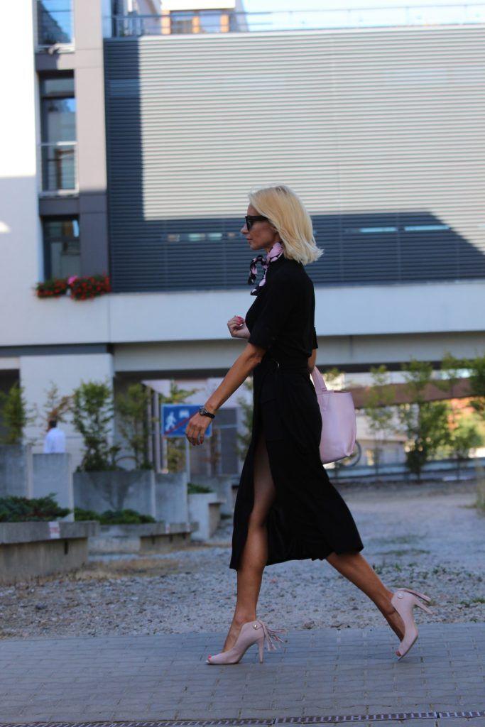 Sukienka szmizjerka/ dress Adolfo Dominguez, buty/ shoes Loft37, torebka/bag Tosca Blu, okulary/ sunglasses Celine