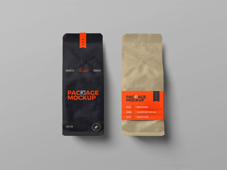 Download Paper Bags Packaging Mockup For Coffee Brand Free Package Mockups Bag Packaging Pouch Packaging Coffee Branding