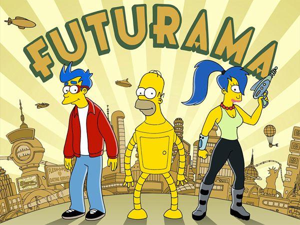 Futurama vs Simpsons mashup-02