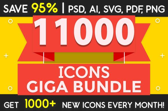 11000 Icons Giga Bundle - SAVE 95% by ChamIcon on @creativemarket
