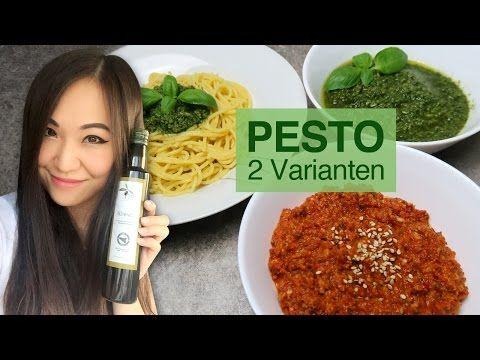 REZEPT: Pesto selber machen | Pesto Genovese | Asiatisches Pesto - YouTube