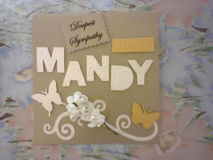 Personalized Deepest Sympathy Card