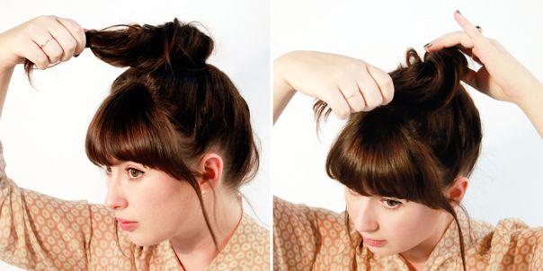 high bun tutorial