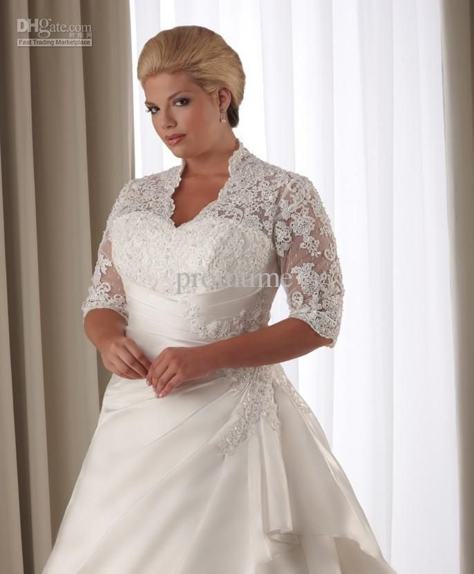 Wholesale hot sale preferred lace plus size wedding dresses plus size bridal gow