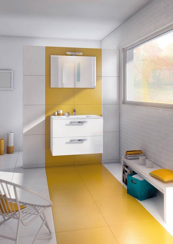imaginez la salle deau qui vous ressemble avec les meubles de salle de bain - Meuble Delpha Unique Onde