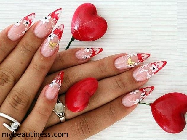Nail Art: Valentines' Day Design