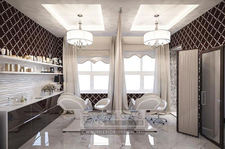 Spa Salon Treatment Room Design Idea http://interior-design.pro/ru/dizayn-salonov-krasoty-photo-interyerov